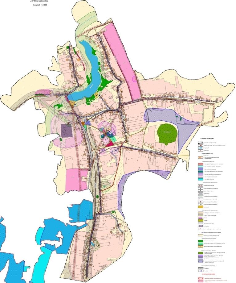 Схема генерального плана села